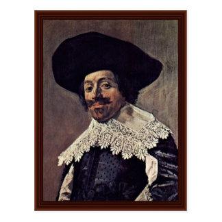 Portrait Of A Man.,  By Hals Frans Postcard