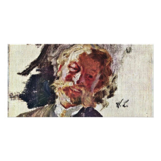 Portrait Of A Man By Leibl Wilhelm (Best Quality) Personalised Photo Card