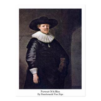 Portrait Of A Man By Rembrandt Van Rijn Postcard