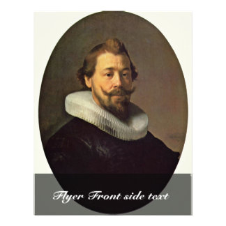 Portrait Of A Man. By Workshop Of Rembrandt 21.5 Cm X 28 Cm Flyer