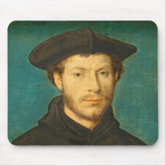 Portrait of a Man, c. 1536- 40 (oil on walnut) Mouse Pad
