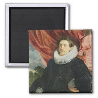 Portrait of a Man, c.1619 Square Magnet