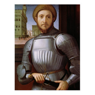 Portrait of a Man in Armour Postcard