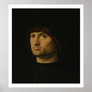 Portrait of a Man, or The Condottiere, 1475 (oil o Poster