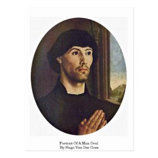 Portrait Of A Man Oval By Hugo Van Der Goes Postcard