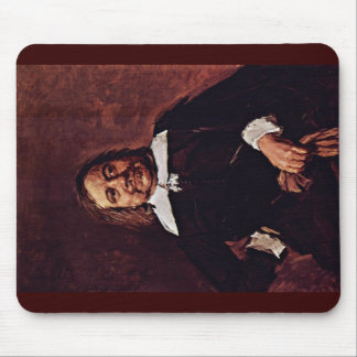 Portrait Of A Man With A Pointed Collar Mouse Pad