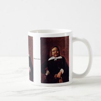 Portrait Of A Man With A Pointed Collar Basic White Mug