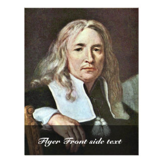 Portrait Of A Man With Long Blond Hair By ? Kréta Flyer
