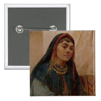 Portrait of a Middle Eastern Girl, c.1859 (oil on 15 Cm Square Badge