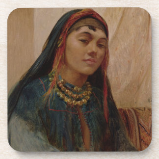 Portrait of a Middle Eastern Girl, c.1859 (oil on Beverage Coaster