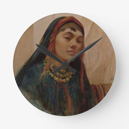 Portrait of a Middle Eastern Girl, c.1859 (oil on Clock