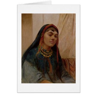 Portrait of a Middle Eastern Girl, c.1859 (oil on Greeting Card