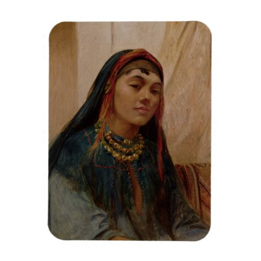 Portrait of a Middle Eastern Girl, c.1859 (oil on Flexible Magnet