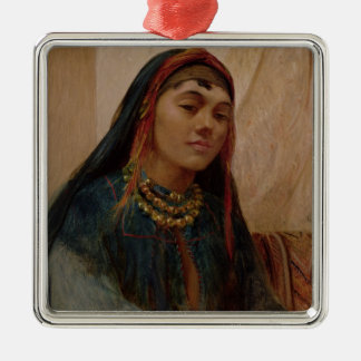 Portrait of a Middle Eastern Girl, c.1859 (oil on Silver-Colored Square Decoration