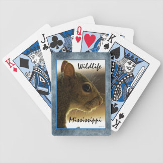 Portrait of a Mississippi Gray Squirrel /Blue Back Bicycle Playing Cards