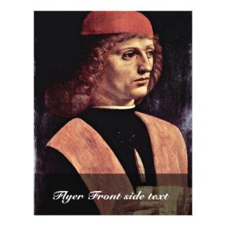 Portrait Of A Musician, By Leonardo Da Vinci 21.5 Cm X 28 Cm Flyer