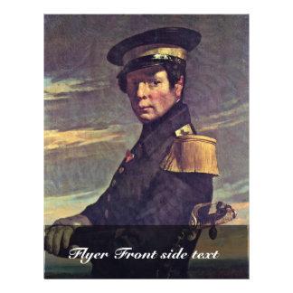 Portrait Of A Naval Officer By Millet  (Best Quali Flyer Design