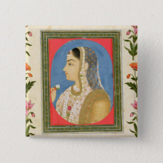 Portrait of a noble lady, from the Small Clive Alb 15 Cm Square Badge