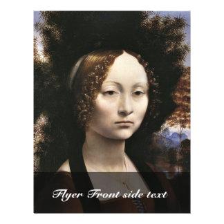 Portrait Of A Noblewoman (Ginevra Benci?) By Leona Flyer