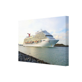 Portrait of a Passing Cruise Ship Canvas Print