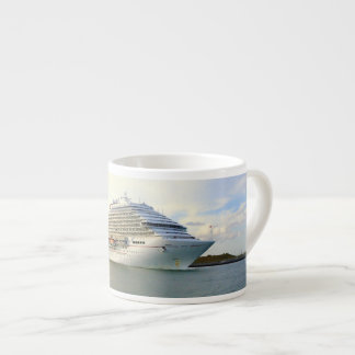 Portrait of a Passing Cruise Ship Espresso Cup