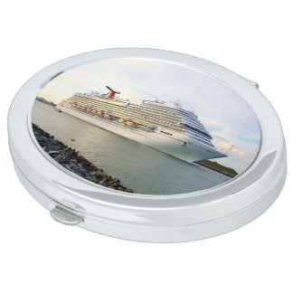 Portrait of a Passing Cruise Ship Mirrors For Makeup