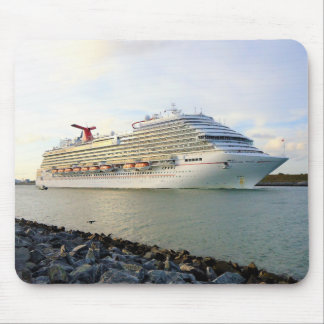 Portrait of a Passing Cruise Ship Mouse Pad