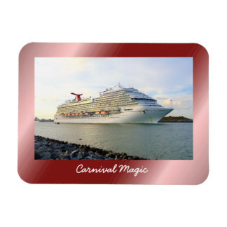 Portrait of a Passing Cruise Ship Rectangular Photo Magnet