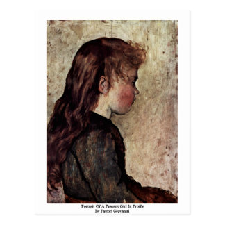 Portrait Of A Peasant Girl In Profile Postcards