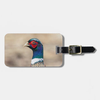 Portrait of a pheasant luggage tag