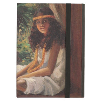 Portrait of a Polynesian Girl - Helen T. Dranga iPad Air Cover