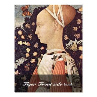 Portrait Of A Princess Ginevra D'Este By Pisanello 21.5 Cm X 28 Cm Flyer