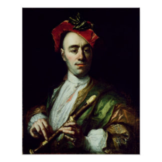 Portrait of a Recorder Player Poster