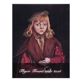Portrait Of A Saxon Prince By Cranach D. Ä. Lucas 21.5 Cm X 28 Cm Flyer