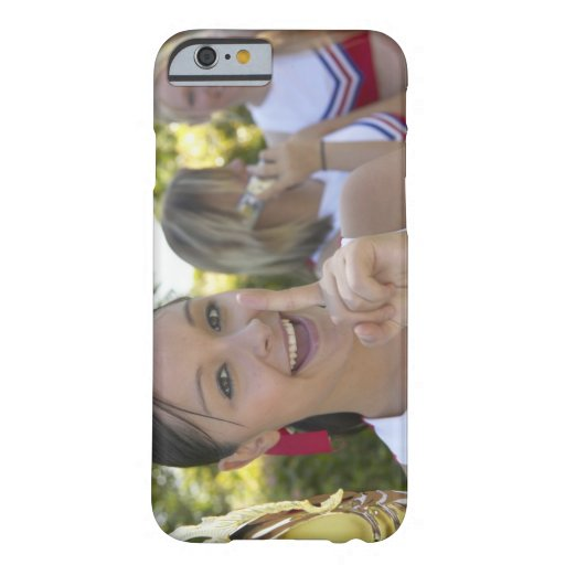 Portrait of a Teenage Cheerleader Holding a iPhone 6 Case