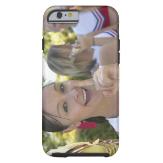 Portrait of a Teenage Cheerleader Holding a Tough iPhone 6 Case