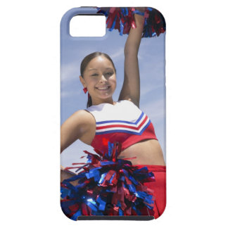 Portrait of a Teenage Cheerleader Holding iPhone 5 Cases