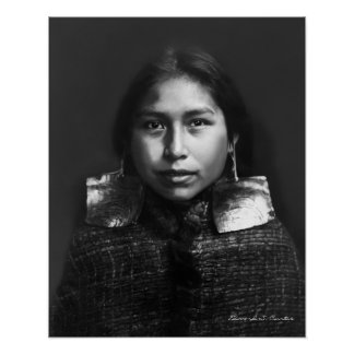 Portrait of a Tsawatenok girl  - 1914 Poster