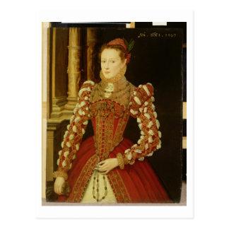 Portrait of a Woman, 1567 (oil on panel) Postcard