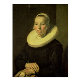 Portrait of a woman, 1644 postcard