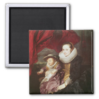 Portrait of a Woman and Child Magnet
