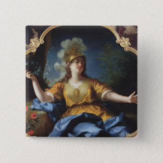 Portrait of a Woman as Minerva, 1730 15 Cm Square Badge