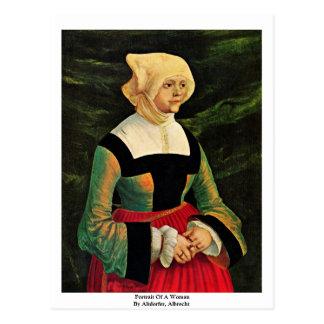 Portrait Of A Woman By Altdorfer, Albrecht Postcard