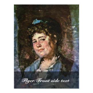 Portrait Of A Woman By Grigorescu Nicolae Custom Flyer