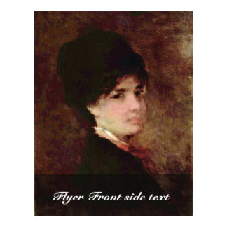 Portrait Of A Woman By Grigorescu Nicolae Flyer Design