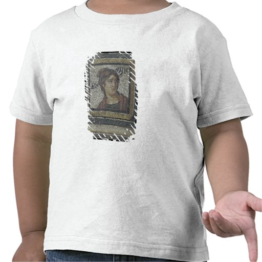 Portrait of a woman, detail of a mosaic pavement d tshirts