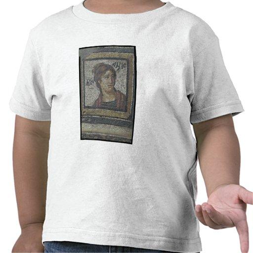Portrait of a woman, detail of a mosaic pavement d tshirt