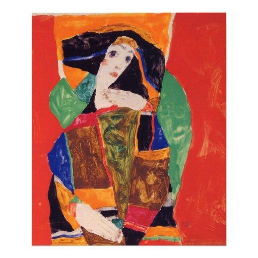 """""""Portrait of a Woman"""" Egon Schiele Photo Print"""