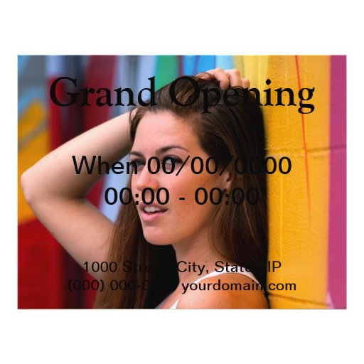 Portrait Of A Woman Personalized Flyer