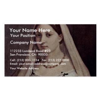 Portrait Of A Woman (La Velata) By Raffael Business Card Templates
